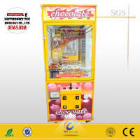 2015 new chocolate toy crane vending game machine for sale