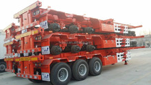 carbon steel material tri axle skeleton container semi trailer container chassis truck trailer