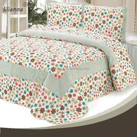 patchwork fabric 3pcs baby bedding set
