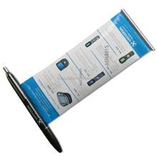 Promtional customized banner pen , Retractable Cheap Banner Pen , advertising pen