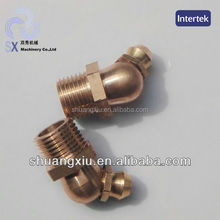m10x1 45degree brass hydraulic grease fitting used for car care products