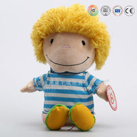 Top selling plush stuffed doll mascot for adults