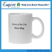 Ordinary handle coffee customized promotion popular white ceramic mug