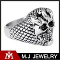 Comercio al por mayor anillo de calavera garra de acero inoxidable