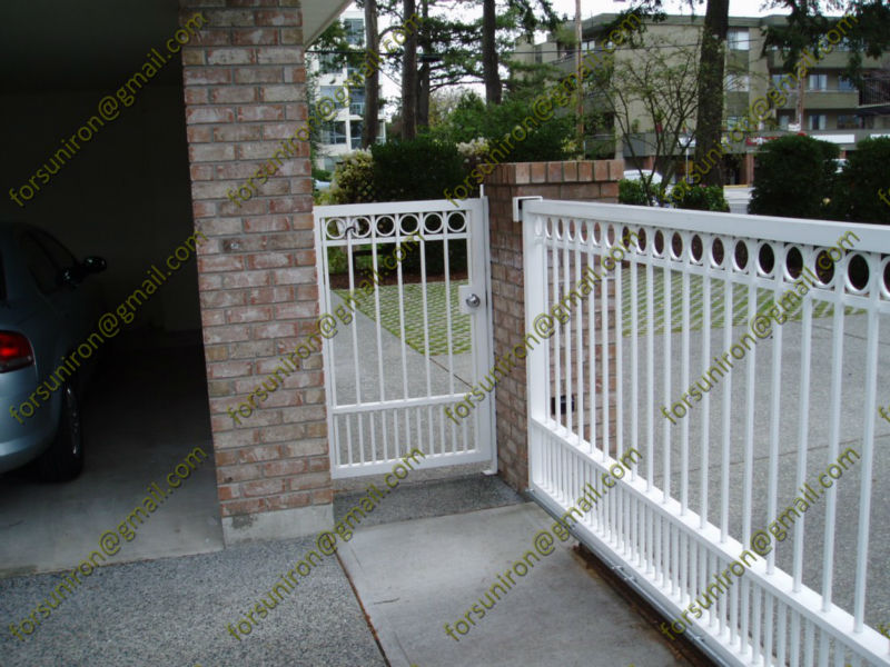White wrought iron pedestrian gate buy gates models