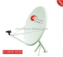 antena de internet ku band offset tv satellite dish antenna 0.9M