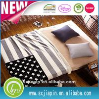 USA UK flag throw blanket Ultra Soft Luxury Double Velvet Coral fleece with Sherpa