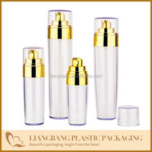 cosmetic packaging with airless bottle ,transparents outside and PP inner