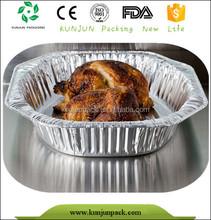 Food grade aluminum foil in microwave oven