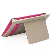 Hot new kickstand for ipad mini 4 genuine leather case flip leather cover handheld case, China supplier