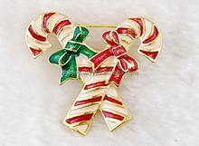 Christmas lollipop bulk brooch / Red and green Enamel brooch pin Christmas gift