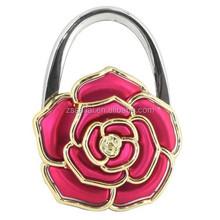 Newest Promotional Elegant Colorful Metal Plastic Folding Bag Holder /Bag Hook /Table Top Bag Hanger