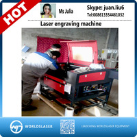 5070 80w laser engraving machine with cw3000 free shipping by sea