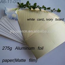 325g Aluminum Foil Paper(Matte film) for gift box