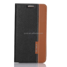 for samsung S6 G9200 Luxury leather stand flip cover case with card slot
