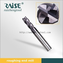 4 Flutes Rough Coarse Pitch End Mills with Thread Shank Side Milling Cutter