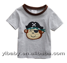 18M-6Y high quality children summer embroidery t shirt kids fashion design baby boys t shirts Wholesale