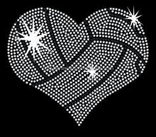 Big heart wholesale rhinestone hot fit transfer motif design on shirt
