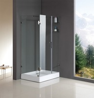 rectangle tempered glass seal strip shower rooms