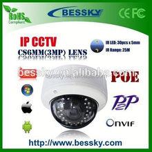 China new product 2.0MP 1080P wifi ip dome camera Bessky shenzhen ip camera
