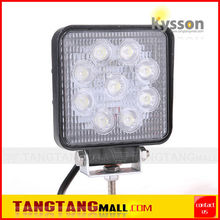 Slim 27W 10-30V range high efficiency LED offroad work light