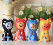 Designer pet products tall wooden cat wood statues & sculptures wood craft