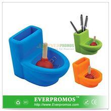 Novelty Design Toilet and Plunger Desktop Holder For Fun