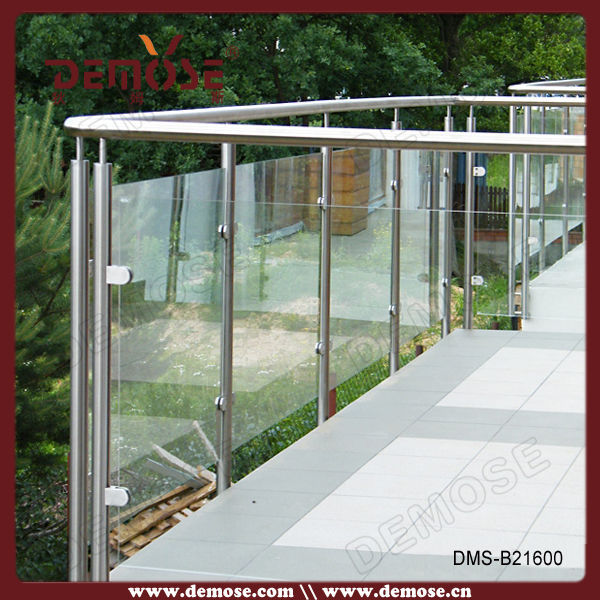 Stainless steel glass balcony railing designs view for Balcony glass railing designs pictures