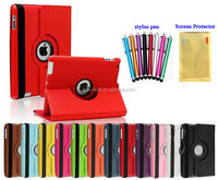 360 Rotating PU Leather Smart Case Cover Stand for Apple ipad Air 5 with stylus pen and screen protector
