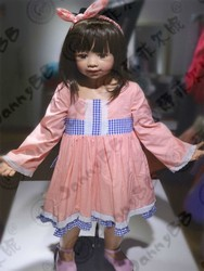 kids boutique ruffle pink dress wholesale kids long sleeve cotton dress