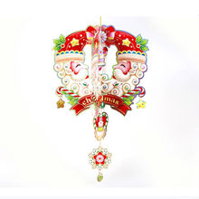 Wholesale Christmas decorations, Christmas / tree / door / window hanging pieces, pendants stars Santa Claus