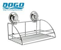Bathroom organizer suction stainless shower basket