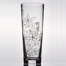 Hand blown wholesale cheap tall glass vases