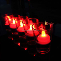 red plastic led floating candle