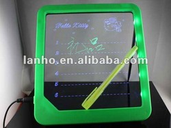 2014 LED Message Board Kids Painting Writing Panel Tablet