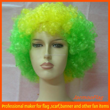 soccer football crazy fan wig