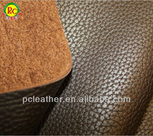 Embossed woven synthetic leather pu leather for sofa