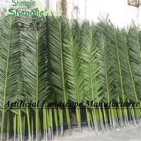 SJ high quality UV protection Indoor&Outdoor artificial palm,coconut tree leaves