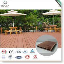Foshan Ruccawood Outdoor Hollow WPC Flooring 150*20mm