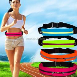 hot sale fashion leisure running bag, sports waist bag, colorful money waist belt bag