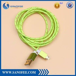 Hot sale factory Wholesale micro usb 2.0 cable and colorful micro braided usb cable