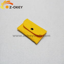 fashion yellow color felt wallet&purse for girls