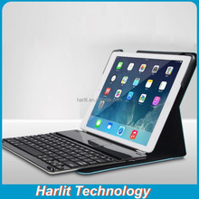 Magnetic Bluetooth Keyboard For iPad 234 With Leather Cover Folio Leather Case With Aluminum Bluetooth Keyboard For iPad 234