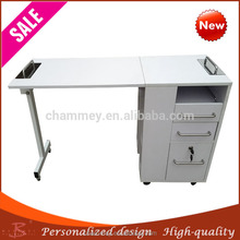 PU leather wood malaysia cosmetic desk,wooden lustrous surface hand nail desk
