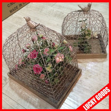 2015 new arrival fashion indoor decorative bird cages wholesale