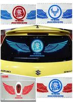 New Wing of angel design Car Music Rhythm Lamp / Car Sticker Equalizer with Car Charger, Size: 90 x 25cm