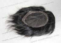4inch 1b# highlight white straight wave brazilian hair toupee for men