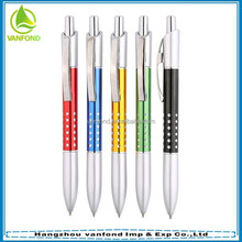 Pen factory sales blue link promotional ball-point pen with low price