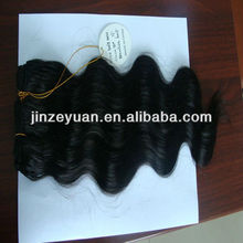 AAAAAA wavy and curly hair bundles tangle free natural color wooden hair sticks wholesale
