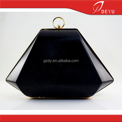 9.5*6 inch New design box purse frame with plastic box cover,Metal purse box frame